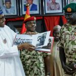 President Buhari in Maiduguri Borno State to declare Open Chief of Army Staff Conference, Address Troops and Visits Wounded Soldiers on 28th Nov 2018   State House Photo
