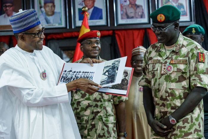 President Buhari in Maiduguri Borno State to declare Open Chief of Army Staff Conference, Address Troops and Visits Wounded Soldiers on 28th Nov 2018 | State House Photo