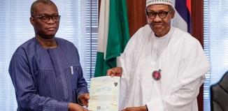 Uyi Uwadiae, President Muhammadu Buhari, Lanre Issa-Onilu,