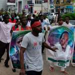 Shi'ite Shiite protestors marching to the Nigeria's capital city Abuja. Nigerian army officers have killed at least 10 Shiite protesters