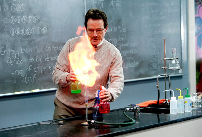 Chemistry Teacher with Students in Class