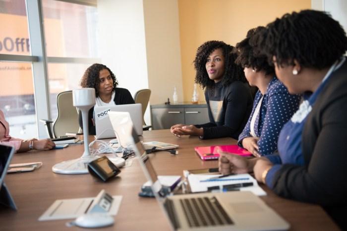 women woman laptop office tech meeting boardroom