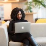 online counselling women woman laptop office tech desk