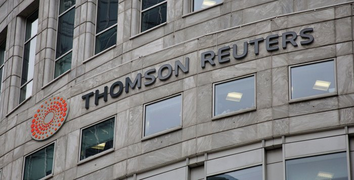 Thomas Reuters skyline signage