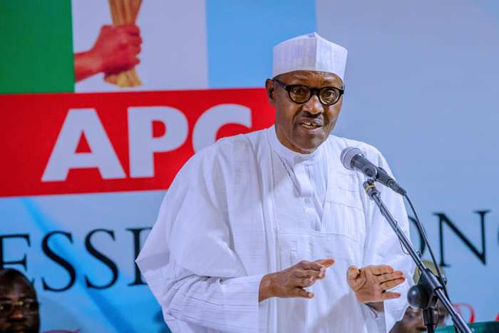 President Muhammadu Buhari and other leaders of the All Progressives Congress, APC, on Monday, February 18, 2019 met in Abuja in the party's caucus meeting.