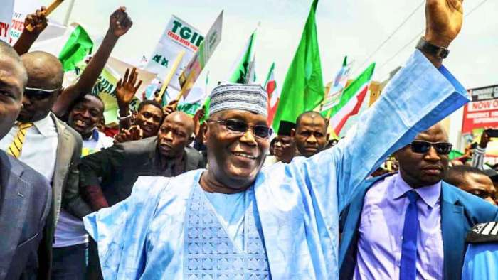 Former Vice President of Nigeria, Atiku Abubakar who is the main challenger in the February 2019 Presidential Elections