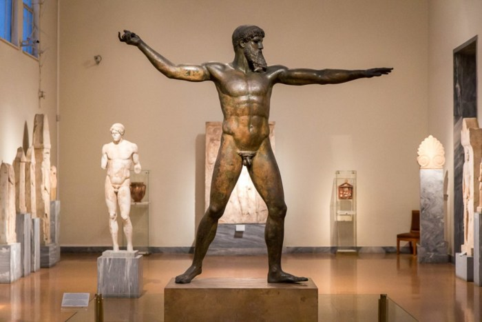 Statue of Zeus at The National Museum of Archaeology, Athens