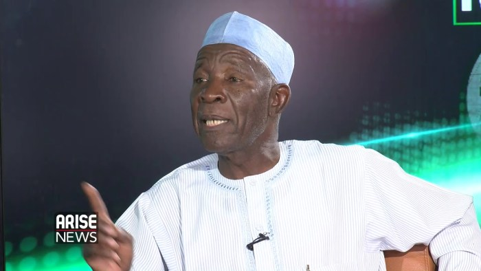 Buba Galadima, opposition leader and spokesperson of the Atiku Abubakar Presidential Campaign Organisation