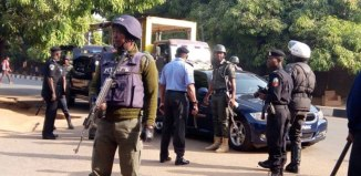 File photo of Nigerian police officers lawyer
