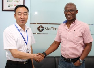 David Zhang, the chief executive officer, StarTimes NigeriaKayode Akintemi, the managing director and editor-at-chief at Plus TV Africa,