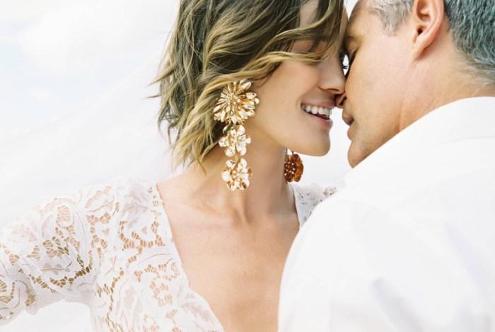 wedding couple love honeymoon hotel resort beach destination wedding gown