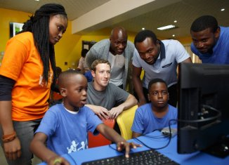 Mark Zuckerberg visited the CChub in Yaba, Lagos when he visited Nigeria in 2017.