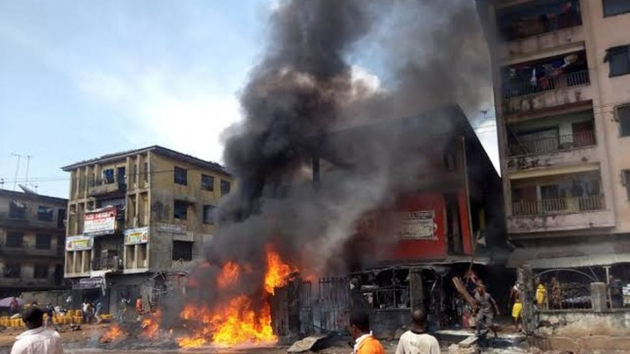 Petrol tanker explodes in Ontisha, Anambra State on October 15, 2019