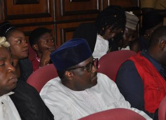 Pensions Fraud: Abdulrasheed Maina and his son make appearance in court on October 25, 2019.