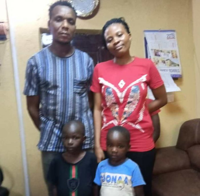 SOLD: Joshua James, 6 and Samuel Gbawune, 3 after they were rescued by police