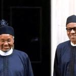 Mamman Daura, President Muhammadu Buhari (right) is pictured with his nephew, Mamman Daura in London in 2015