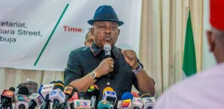 Uche Secondus, the national chairman of the People's Democratic Party, PDP