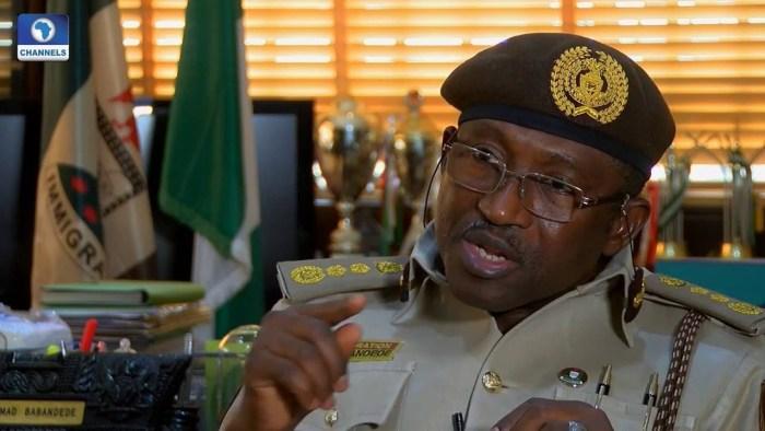Muhammad Babandede, immigration