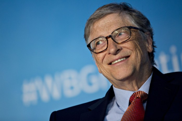 Bill Gates, founder of Microsoft and globally renowned philanthropist