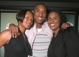 Sharia Washington (left), Kobe Bryant (center) and Shaya Tabb (right).