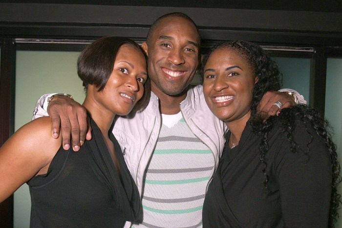 Sharia Washington (left), Kobe Bryant (center) and Shaya Tabb (right).