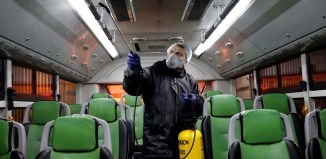 Link Coronavirus Outbreak Virus Outbreak in Iran Sickens Hundreds, Including Leaders By Associated Press February 28, 2020 04:07 PM A worker disinfects a public bus against coronavirus in Tehran, Iran, in early morning of Wednesday, Feb. 26, 2020. Iran's… FILE - A worker disinfects a public bus against coronavirus in Tehran, Iran, Feb. 26, 2020.
