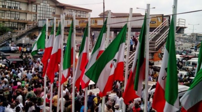 FILE: Supporters of the People's Democratic Party (PDP) attend a campaign rally
