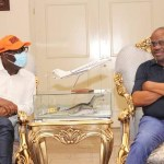 Governor Obaseki meets with Governor Wike in Rivers state on Sunday, June 14, 2020
