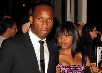 Didier Drogba and Lalla