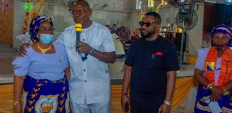 Valentine Ozigbo, the immediate past President and Group CEO of Transcorp Plc, celebrates Mothers Day with Catholic Women at the St Mary's Catholic Church Enugu on Sun, April 18, 2021