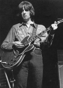 Eric Clapton plays a Gibson ES-335 during Cream's Farewell Tour, 1968.