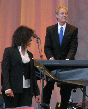 Neil Larsen and Sharon Robinson of the Leonard Cohen Band.