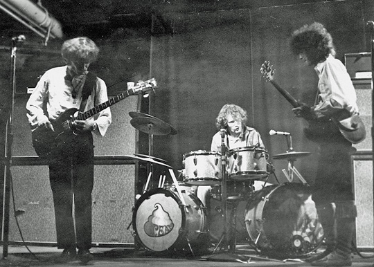 Jack Bruce, Ginger Baker and Eric Clapton live at the Psychedelic Supermarket in Kenmore Square, Boston, September, 1967.