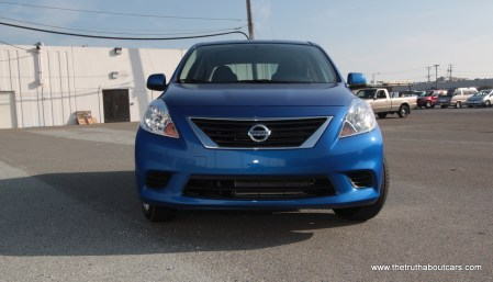 2012 Nissan Versa Exterior, Front, Picture courtesy of Alex L Dykes
