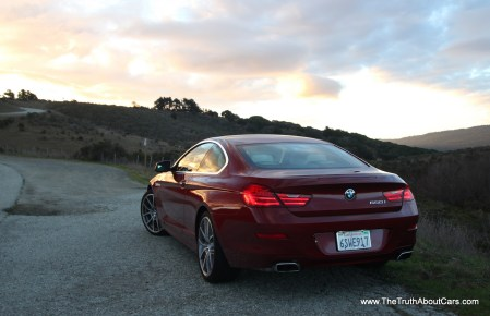 2012 BMW 650i coupe, Exterior, rear 3/4, Photography by Alex L. Dykes