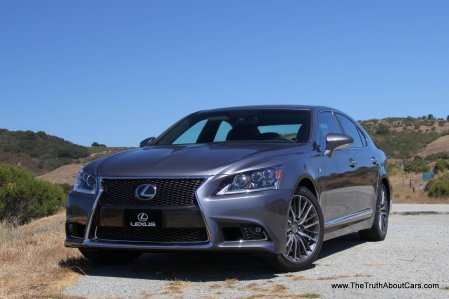 2013 Lexus LS 460 and LS 600hL, Exterior, F Sport front 3/4, Photography Courtesy of Alex L. Dykes