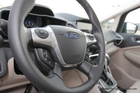 2013 Ford C-MAX Energi Plug-In Hybrid, Interior, Steering Wheel, Picture Courtesy of Alex L Dykes