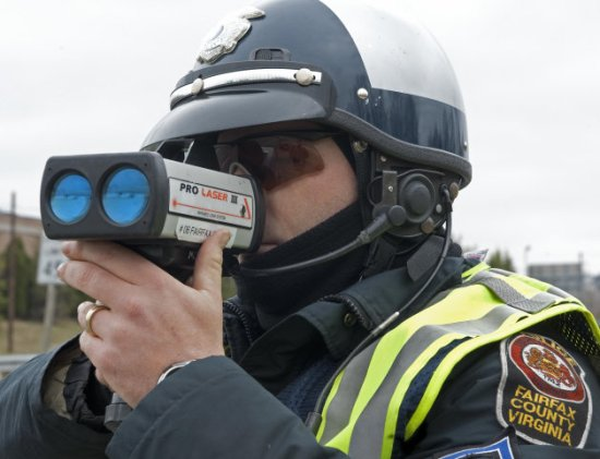 Fairfax County Virginia Police + Radar Gun
