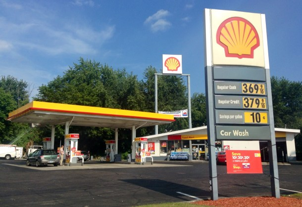 Shell Station In Connecticut Circa August 2014
