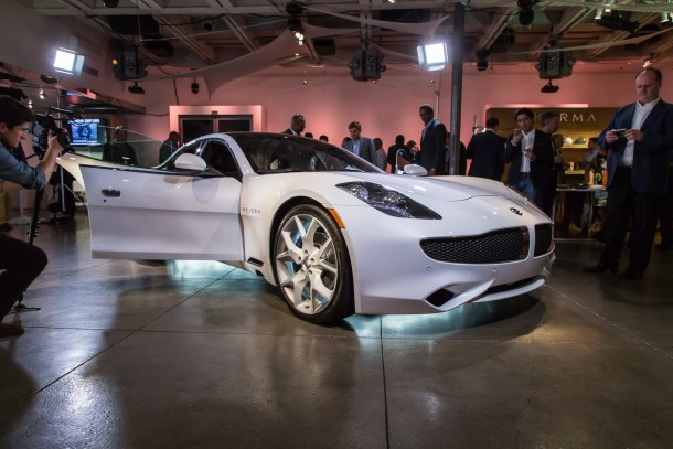 Front three-quarter view of Karma Revero at launch in Laguna Beach, California, Image: © 2016 Mark Stevenson/The Truth About Cars