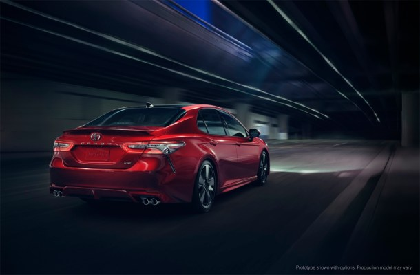 2018 Toyota Camry XSE rear - Image: toyota