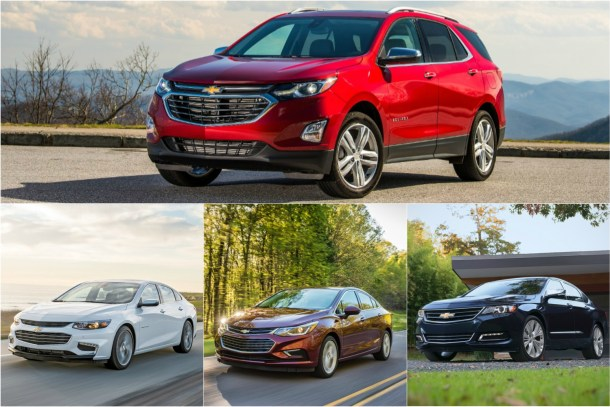 2018 Chevrolet Equinox vs Impala/Cruze/Malibu - Images: GM