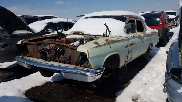 Junkyard Find  1962 Chevrolet Biscayne Sedan   The Truth About Cars 1962 Chevrolet Biscayne in Denver wrecking yard  LH front view       2018  Murilee Martin