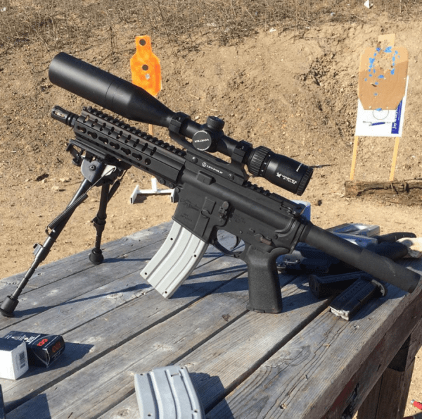 """CMMG PDW .22 LR 9"""" Upper in situ (courtesy The Truth About Guns)"""