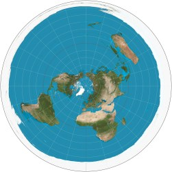 The United States Geologic Survey Azimuthal Equidistant map of the world.