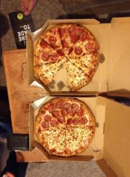 Well it was a two for one special but I like pepperoni and she doesn't.  So we compromised.