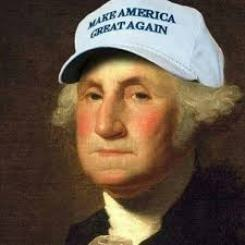 I found this little known archival painting of George W. Few people seem to know that he actually originated the campaign. In between killing the pesky natives who seemed to want to keep it the way it was.
