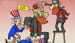 You won't see cartoons like this in America, but this is how the Middle East and Islamic Africa sees ISIS, America, UK and Israel. Click to enlarge