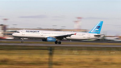 Russian Airbus A321 on runway