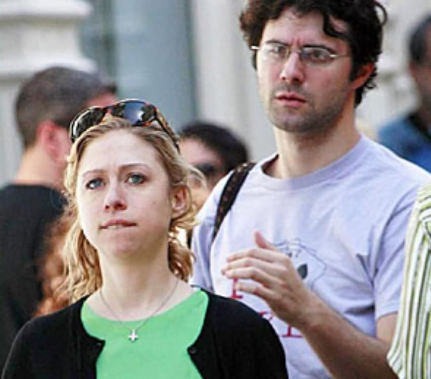 Why is Chelsea Clinton Wearing an Inverted Christian Cross? Chelsea-inverted-cross2